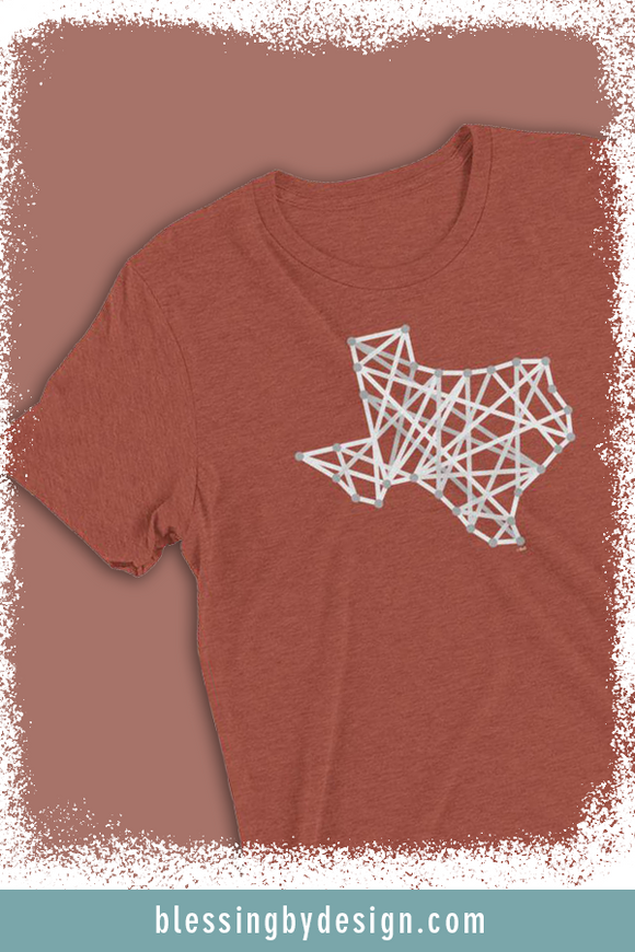 Texas String Art | Unisex T-shirt