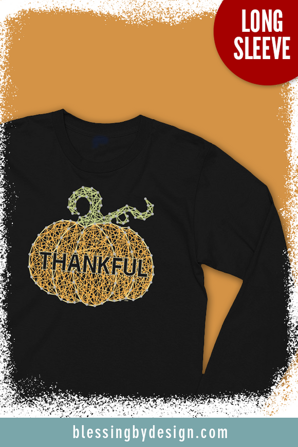 Thankful Pumpkin String Art | Women's Long Sleeve