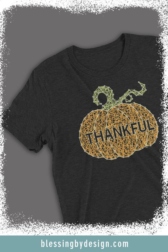 Thankful Pumpkin String Art | Women's T-shirt