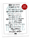 Bless This House | 8x10 PDF Download