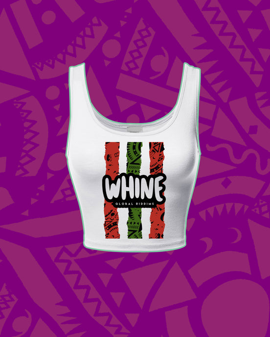 WHINE CROP TOP - WHITE