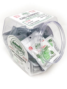 Gummies Candy Jar - 30 pack w/ Plastic Jar