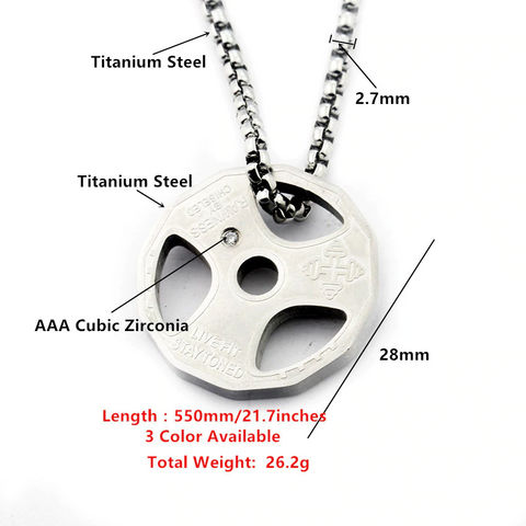 Weight Plate Necklace