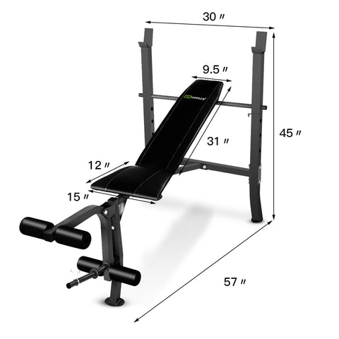 Goplus Adjustable Fitness Bench