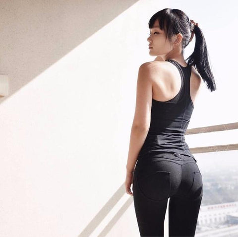 low waist push up leggings