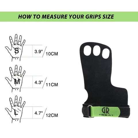 Leather Crossfit Weightlifting 3-Hole Palm Protector Gloves