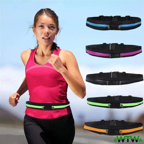 Welcome To Well - Fitness & Outdoor belt Dual Pocket Running Belt