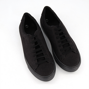 BLACK HEMP SNEAKERS