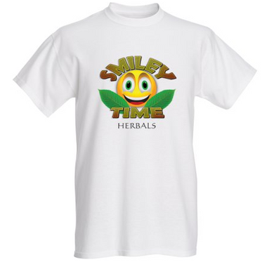 Smiley Time Shirt - White T-Shirt- Crew neck (Men's)
