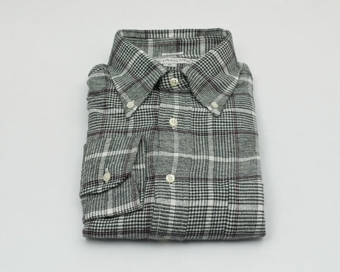 Individualized Shirts Button Down (Black/Red Glen Plaid)