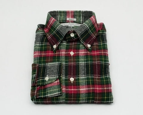 Individualized Shirts Button Down (Gray/Red Tartan)