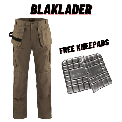 Blaklader Bantam Work Pants With Utility Pockets & FREE Kneepads