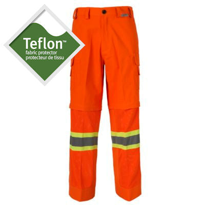 Coolworks Workwear Hi-Vis Orange Ventilated Work Pants