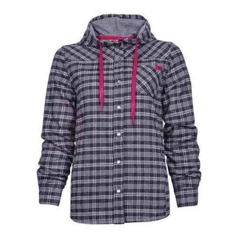 P&F Women's Lined Flannel Hooded Shirt