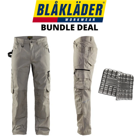 Blaklader Rip Stop Pants & Kneepads Bundle