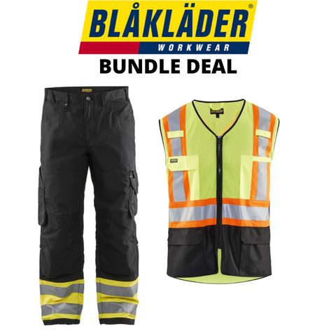 Blaklader Hi-Vis Pants & Safety Vest Bundle