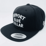 Support Blue Collar Snapback (Black) - northern-boots