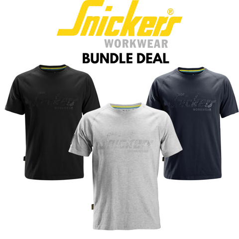 Snickers Workwear Logo T-Shirt Bundle