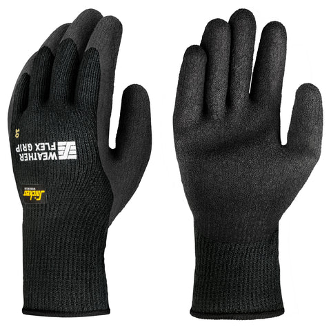 Snickers Workwear 9313 Weather Flex Grip Gloves **BUNDLE OF 2 PAIRS**