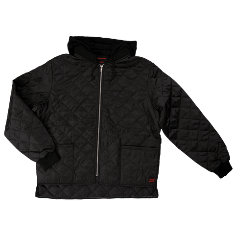 Tough Duck Hooded Quilted Freezer Jacket