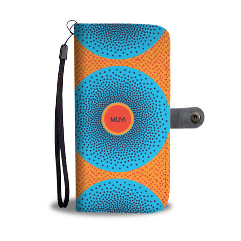 Simi Blue Dotted Wallet Case
