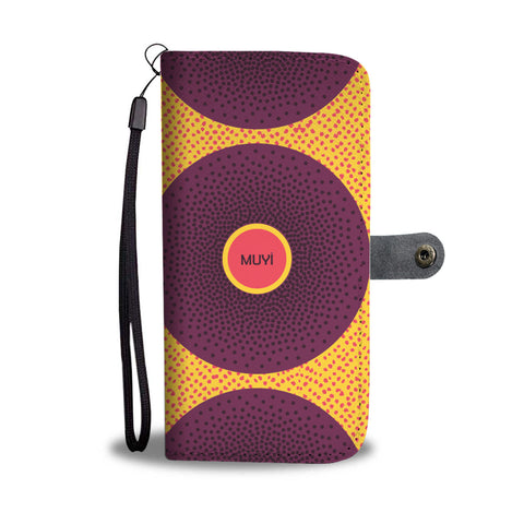 Simi Purple Dotted Wallet Case