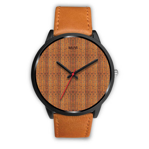 Kente Camel Leather Band Watch