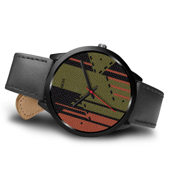 Aye Olive Leather Band Watch