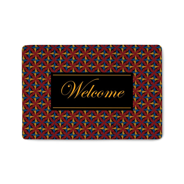 Jaiye Burgundy Welcome Mat