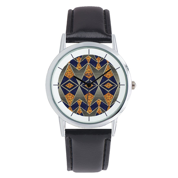 Dara Blue Leather Band Watch