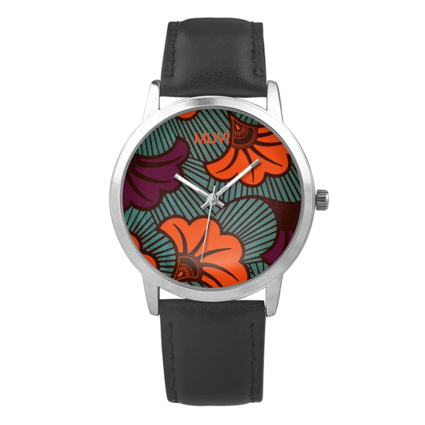Ife Flower Leather Band Watch