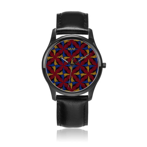 Jaiye Black Leather Watch