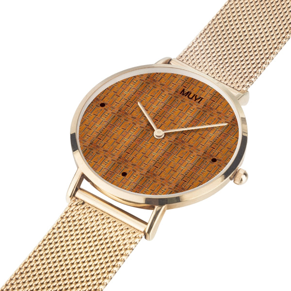 Kente Gold Steel Band Watch