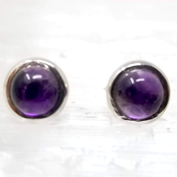 Amethyst Silver Stud ~ by Alula Boutik - alter8.com