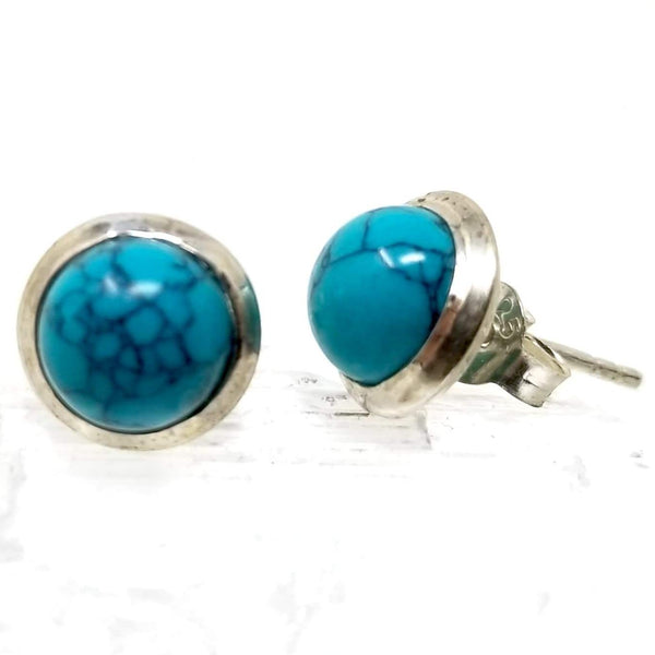 Turquoise Silver Stud ~ by Alula Boutik - alter8.com
