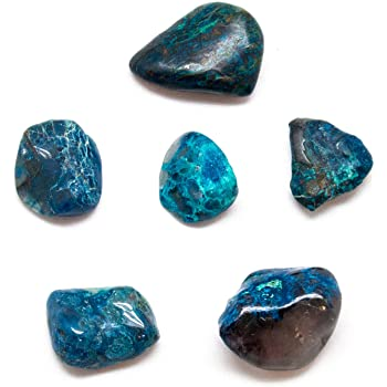 Shattuckite with Cuprite Tumbled - alter8.com