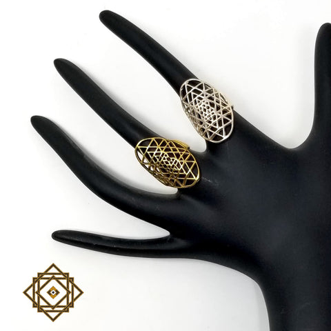 Sri Yantra ring by Alula Boutik - alter8.com