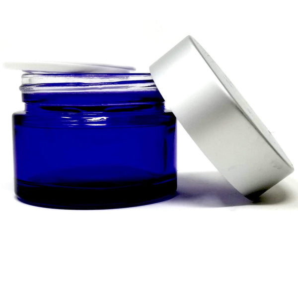 Blue or Amber Glass Jar - alter8.com