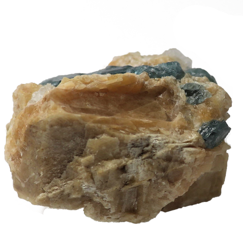 Blue Apatite in Matrix - alter8.com