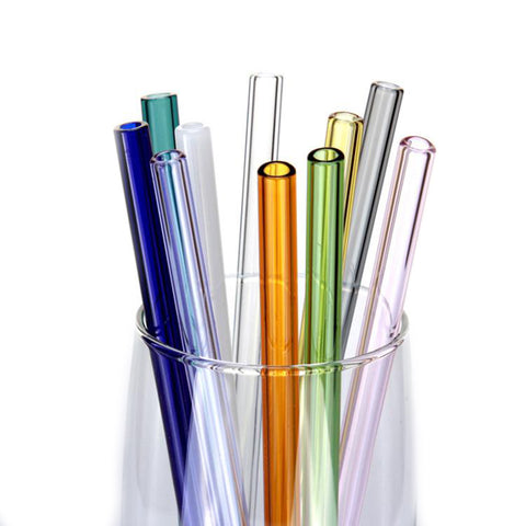 Borosilicate Glass Straw with Cleaner