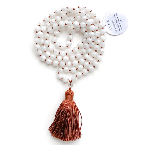 Luna ~ 108 Prayer Mala by Light Seeds - alter8.com