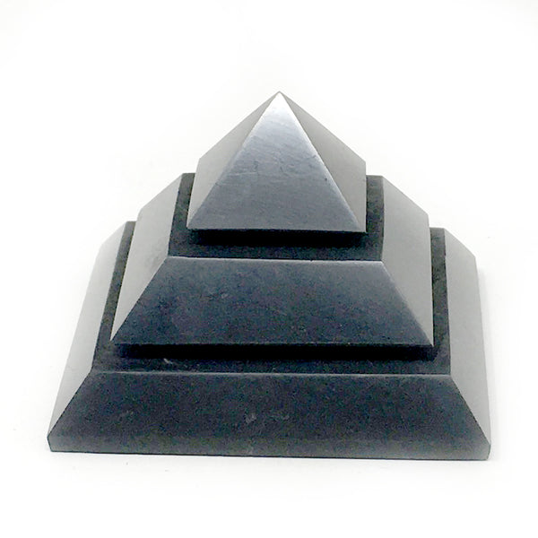 Shungite Pyramid Polished, Slotted - alter8.com
