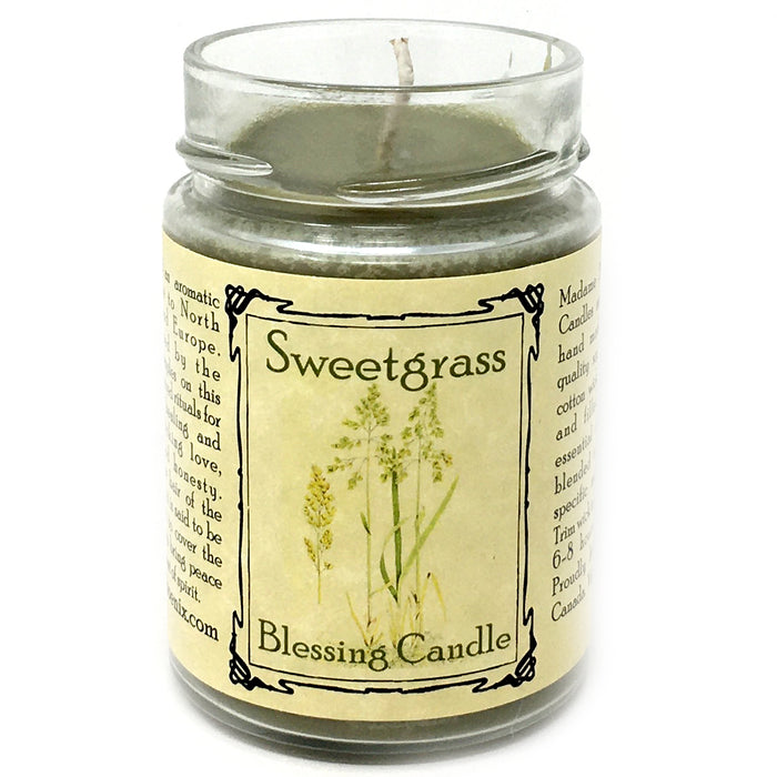 sweetgrass blessing candle