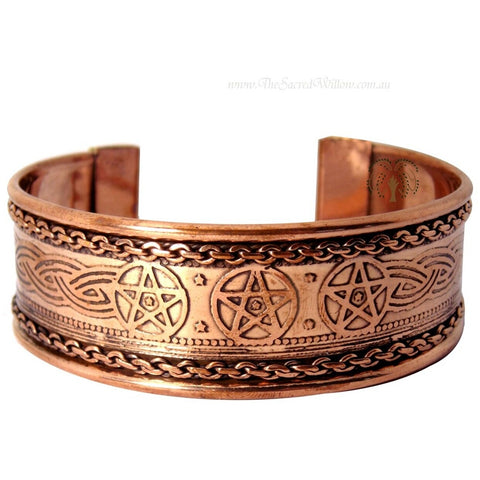 Electroplated Copper Pentagram Bracelet - alter8.com