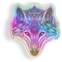 Chrome Wolf Sticker by Mugwort - alter8.com