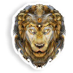 Brass Lion Sticker by Mugwort - alter8.com