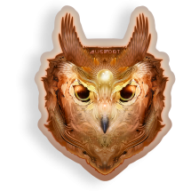 Copper Owl Sticker by Mugwort - alter8.com