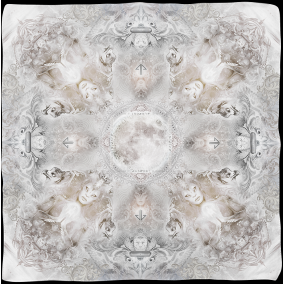 Ethereal Vision Oversize Chiffon Scarf by Mugwort - alter8.com