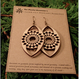 Laser-Cut Pendant Earrings