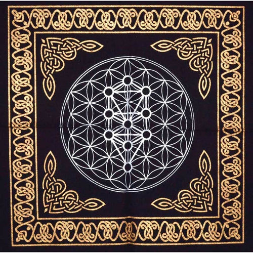 Geometric Tree of Life Altar Tapestry